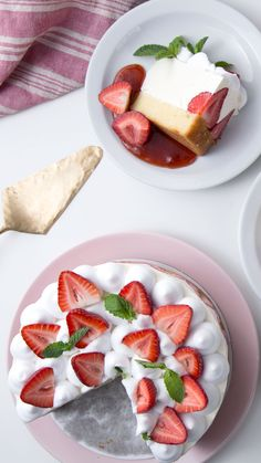 """Picnic Ideas Discover Easy Fraisier """"Ill just have a small piece"""" meant no one ever. Number Birthday Cakes, Number Cakes, Cake Birthday, 50th Birthday, Bakery Recipes, Dessert Recipes, Cooking Recipes, Strawberry Roll Cake, Alphabet Cake"""