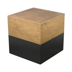 Black And Gold Draper Cube Table design by Lazy Susan