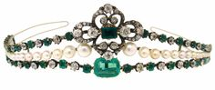 One-of-a-kind EDWARDIAN (c.1910s) DIAMOND, EMERALD, PEARL SILVER & GOLD  On eBay...