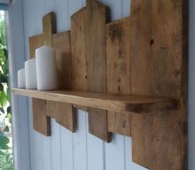 Upcycled Pallet Wood Shelf