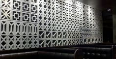 Cinderblock Wall - inspiration for all the cinderblock furniture I plan to make!