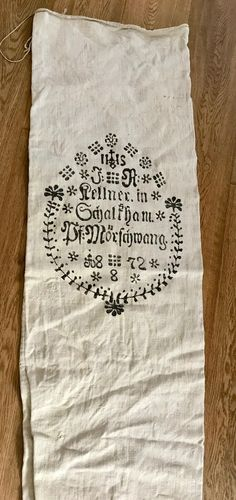 Excited to share the latest addition to my shop: Antique printed German leinen Grain sack, IHS farmhouse, art craft supllies, indoor/outdoor upholstery linen. Not a reproduction. Small Pillow Covers, Small Pillows, Indoor Outdoor Furniture, Religious Symbols, Grain Sack, Sacks, Hand Sewing, Upholstery, German