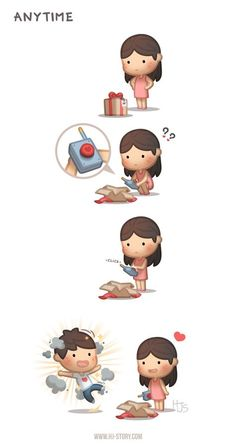 HJ-Story: Little drops of of love and smile! Cartoon Love Quotes, Love Cartoon Couple, Cute Love Cartoons, Cute Cartoon, Hj Story, Cute Love Stories, Love Story, Relationship Comics, Anime Muslim