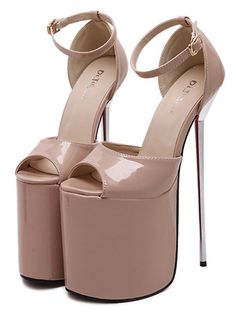 Super high heel solid color sandals for women YS-C5714-Lovelyshoes.net