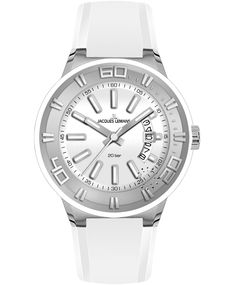Jacques LEMANS Miami Sport White Silicon Strap Η τιμή μας: 99€ http://www.oroloi.gr/product_info.php?products_id=34788