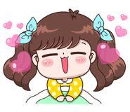 Boobib Lovely Daily (... | 光頭賣 - 最大的LINE貼圖代購網 | 全館通通降五元 VIP儲值300送40 Baby Girl Earrings, Cute Couple Cartoon, Emoji, Cartoon Gifs, Kawaii Drawings, Girls In Love, Girl Humor, Cute Stickers, Cute Couples