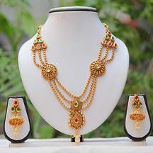 Botha Side Pendant Multicolor Kundan Mala Set