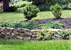 flower bed ideas with stone | Stone Raised Flower Bed