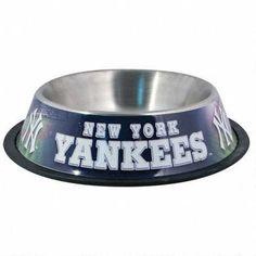 New York Yankees Stainless Steel Dog Bowl