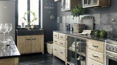 Déco cuisine : un esprit nordique // http://www.deco.fr/diaporama/photo-la-cuisine-vue-par-maisons-du-monde-39980/cuisine-nord-597266/