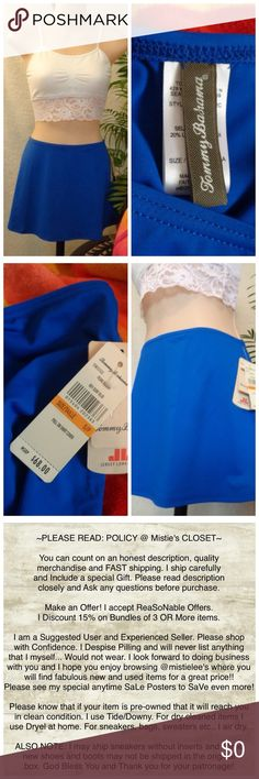 """Surf Blue Swim Skirt Cover S/P Beautiful Swim Cover Skirt Made by: Tommy Bahama Size S/P Beautiful Surf Blue Color Material: 80%Nylon/20%Spandex Measurements: Laid flat across Waist 14""""+Elastic Waist Waist to Hem 11.5"""". A-Line Shape. A summer piece great for any suit! NWT. Please see my other items and bundle to save 15% off 3 or more. Thank you for browsing my closet. Tommy Bahama Swim Coverups"""
