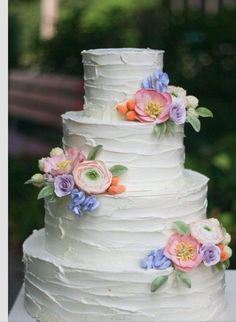 Embedded image permalink Love the simplicity of this #wedding #cake with #flowers