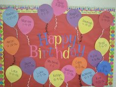 PreK, My Style: Birthday Bulletin Board Preschool Birthday Board, Birthday Bulletin Boards, Birthday Wall, Preschool Bulletin Boards, Fall Birthday, Birthday Display Board, Happy Birthday, Birthday Kids, Birthday Cupcakes