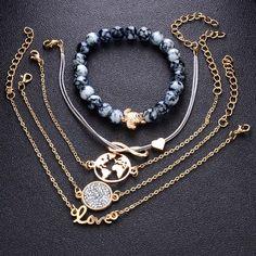 Bohemian Turtle Charm Bracelets Bangles For Women Fashion Gold Color Strand Bracelets Sets Jewelry Party Gifts Strand Bracelet, Bracelet Set, Love Bracelets, Bangle Bracelets, Bohemian Bracelets, Bohemian Necklace, Diamond Bracelets, Bohemian Jewelry, Diamond Jewelry