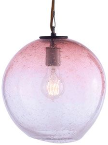 Hand blown fizz sphere pendant! Sun room with ombré wall???