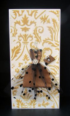 Chantal Personalized Dress Card / DL Size / Handmade by BSylvar, $19.00