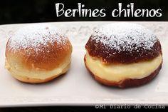 Los clásicos Berlines chilenos que ahora podrá hacerlos fritos o también horneados.