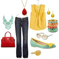 Gold, Turquoise & Berry Red by Amanda Morris