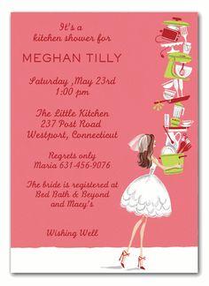dccdc1268367 Balancing Bride Invitations by Bonnie Marcus - Invitation Box. Brunette  BrideKitchen ShowerBridal Shower InvitationsShower GiftsParty ...