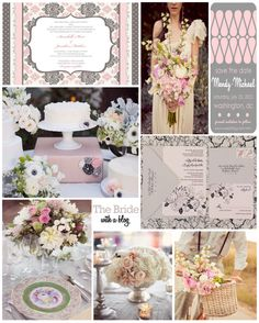 Pink & Grey Inspiration Board