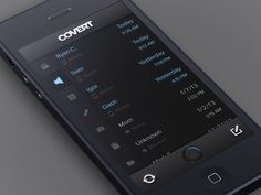 Covert - an App for Stealthy Communication by CreativeDash , via Behance