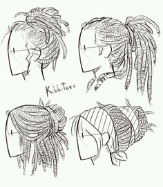 Hair reference; dreads
