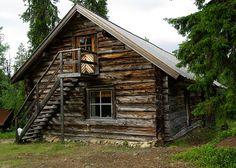 Finland, Wooden House, Woodcutter