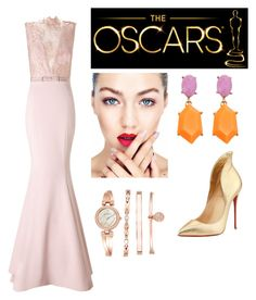 Red Carpet Look by marhay-ini on Polyvore featuring polyvore fashion style Ariella Christian Louboutin Anne Klein clothing