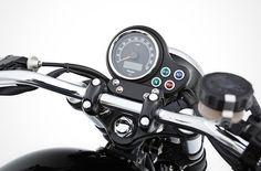 Custom Triumph Bonneville Handle and Meter