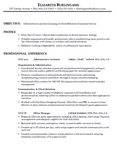 combination resume sample administrative client relations customer service that has no college degree - Resume Samples Administrative Assistant