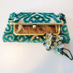 Vintage Style Foldover Clutch Purse in by lisasminimadhattery, $70.00