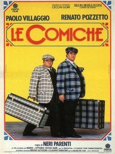 Le comiche (1990). Di Neri Parenti, con Paolo Villaggio, Renato Pozzetto, Enzo Cannavale.