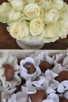 rosas brancas ;