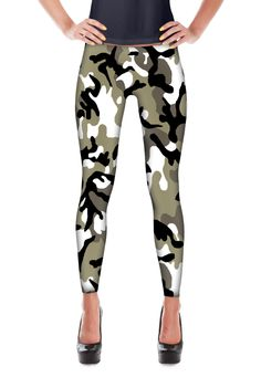 Chinese Army Winter Woodland Camo All-Over Leggings