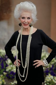 Pearls and pearly white hair