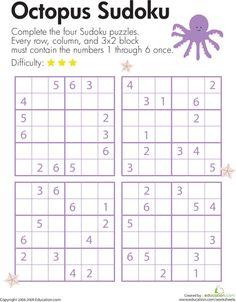 Worksheets: Octopus Sudoku