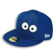 Biscuit Creature New Era 59FIFTY Baseball Cap (White on Blue)