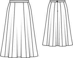 BurdaStyle is a community website for people who sew or would like to learn how. Midi Skirt, Sewing Patterns, Flat, Store, Skirts, Clothing Templates, Midi Skirts, Bass, Skirt