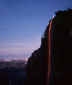 Fire fall of Yosemite - watched these as a child when camping with the grandparents.