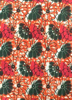 African wax block print fabric    ref: African Fabric House