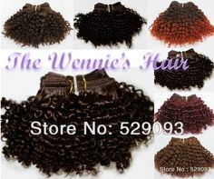 Wennie's 7'' Short Jerry Curly Human Hair Weave Extension 4# Brown 50g/piece 200g/lot African American Style Afro Free Shipping $18.90 - 33.90