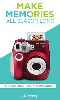 Tap to shop! // Snap pics all season long with the Polaroid Pic-300 Instant Print Camera. It's a modern take on the classic camera everyone loves. Develop photos on the spot and be the star of the holiday party. Shop Polaroid at JCPenney.