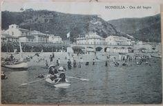 1922 Moneglia  - Ora del bagno n° 57294-965 Ediz. escl.G. Marcone  - Moneglia cartolina con francobollo Italia da 5 cent.
