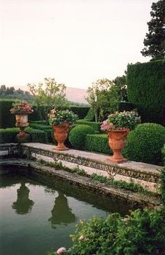 Always on the look out for the perfect, formal, antique garden pool.