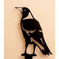 Garden Accessories -- Magpie - On watch -- Enhance your garden with a unique Australian designed and manufactured piece of metal artwork. This life size Magpie - On Watch image is a delight and will stylishly integrate into your outdoor living space. Bird Stencil, Stencil Art, Damask Stencil, Stencil Patterns, Metal Artwork, Metal Wall Art, Plasma Cutter Art, Metal Garden Art, Scrap Metal Art