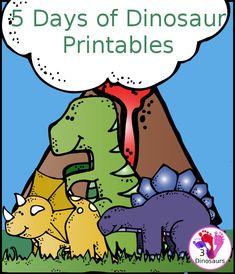 5 Days of Dinosaur Printables from 3Dinosaurs.com #dinosaurprintables #freeprintables #3dinosaurs