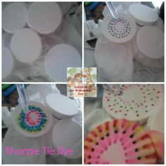 How To Make Sharpie Tie Dye Shirts from Living at the Whitehead's Zoo