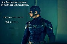 Captain America Winter Soldier quote- because Joss Whedon make subtle political points