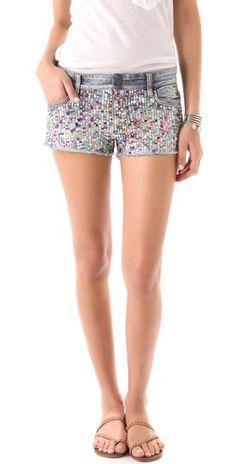 rainbow sequin shorts!!
