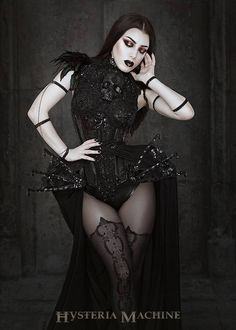 Model: Threnody In Velvet Photography: Iberian Black Arts Corset: Bibian Blue Arm bands: Elegant Curiosities Tights: The Stylish Fox Hosiery Store Skull Breastplate: Hysteria Machine Welcome to Gothic and Amazing |www.gothicandamazing.org